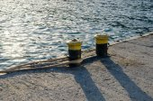 Knecht am pier — Stockfoto