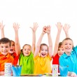 Children with raised hands. — Stock Photo #53975097