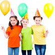 Girls with coloured balloons — Stock Photo #53975171