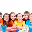 Children sitting at table. — Stock Photo #53975191