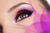 Female eye with makeup — Stock Photo