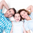 Smiling young family — Stock Photo #54459479