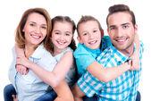 Family with children — Foto de Stock