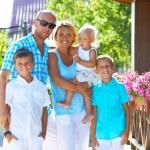 Family with three children — Stock Photo #55070385