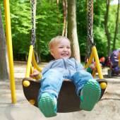 Boy on swing. — Stock Photo