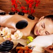 Adult woman relaxing in spa salon — Stock Photo #57506295