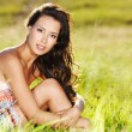 Beautiful sexy woman on nature — Stock Photo #57506665