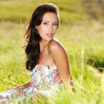 Beautiful sexy woman on nature — Stock Photo #57506671