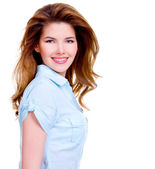 Cheerful young smiling woman — Stock Photo