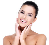 Smiling woman with clean skin — Stock Photo