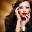 Woman with fashion eye makeup — Stok fotoğraf #59361071