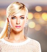 Woman with fashion makeup — Stock Photo