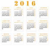 Calendar 2016 — Stock Photo