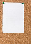 White lined paper — Stock Photo