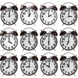 Time Collection of Alarm Clock — Stock Photo #69545017