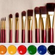Paints and brushes — Stock Photo #51849445