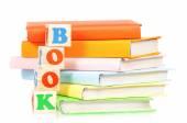 Books with blocks — Stock Photo
