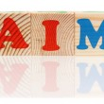 Word aim — Stock Photo #52559271