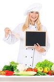 Kadın aşçı — Stok fotoğraf