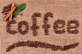Text of coffee beans — Stockfoto