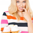 Woman with cake — Stock Photo #53652297