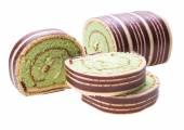 Swiss roll cake — Stock Photo