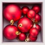 Red christmas ball — Stock Photo #56400745