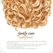 Blond curled hair background — Stock Vector
