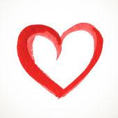 Akwarele serca na białym tle — Wektor stockowy