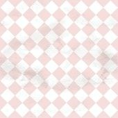 Pink seamless grungy vintage pattern from the cells of diagonall — Stock Vector