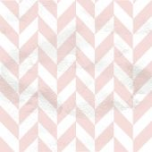 Pink seamless vintage pattern of chevron on white grange paper — Stock Vector