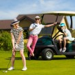 Kids golf competition — Stock Photo #81275726
