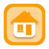 Dom ikona — Zdjęcie stockowe