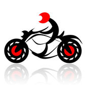 Motorcycle biker — Stock Photo