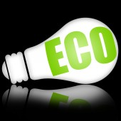 Eco lamp — Stock Photo
