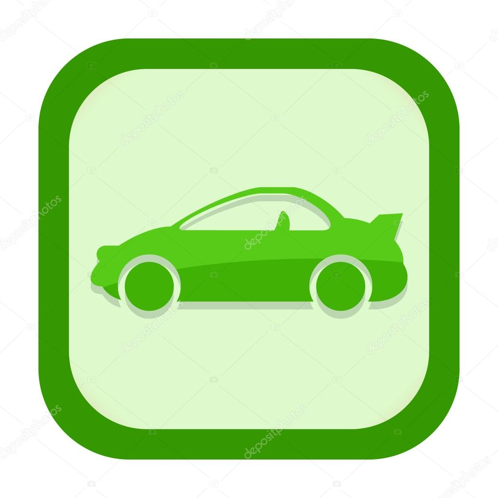 Green Car Icon Green Sports Car Icon Isolated