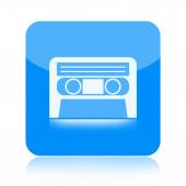 Cassette tape icon — Stock Photo