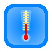 Thermometer icon — Stock Photo