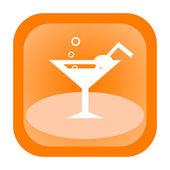 Cocktail orange icon — Stock Photo