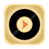 Music player icon — Stock Photo