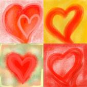 Liebe Herzen — Stockfoto