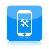 Smartphone and repair tools icon — ストック写真