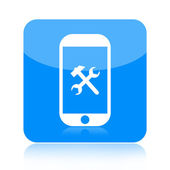Smartphone and repair tools icon — Stock Photo
