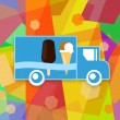 Ice cream truck — Stock Photo #78400222