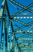 Joists and members of  Steel bridge — Stockfoto