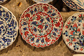 Brightly colored porcelain bowls — Stock Photo