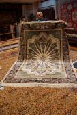 Finely woven silk carpet  — Stockfoto
