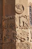 Sculpted frieze of Armenian Church — Stock Photo