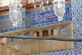 Mosaics decorating     Rustem Pasha Mosque — Stock Photo