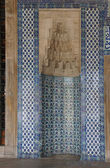 Mosaics covering the outside walls  of the Rustem Pasha Mosque,  — Stock Photo